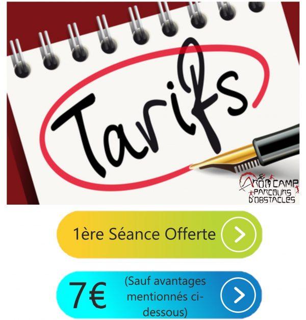Tarifs Aroocamp